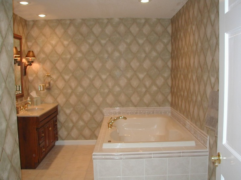 Classic-Bathroom-Tile-Designs-with-Unique-Lighting-800x600