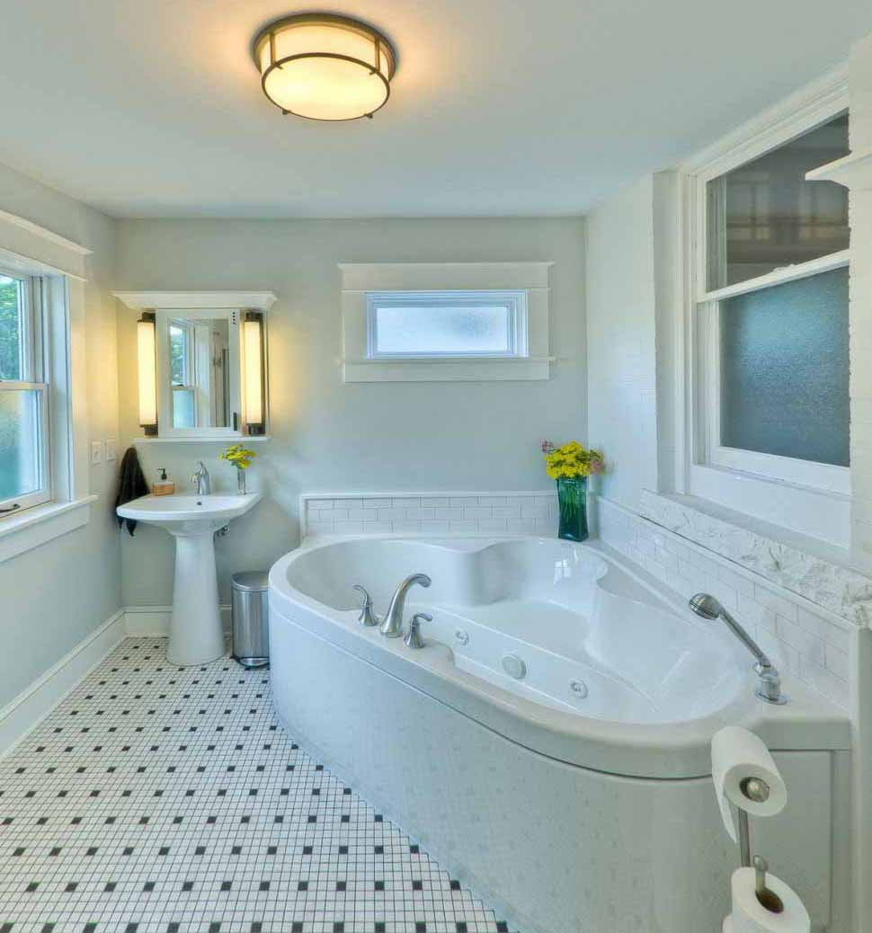 Desain kamar mandi modern untuk rumah minimalis Modern Small Bathroom  Design Ideas On A Budget  ideas for using wainscoting subway tile in a bathroom. Wainscoting Small Bathroom. Home Design Ideas