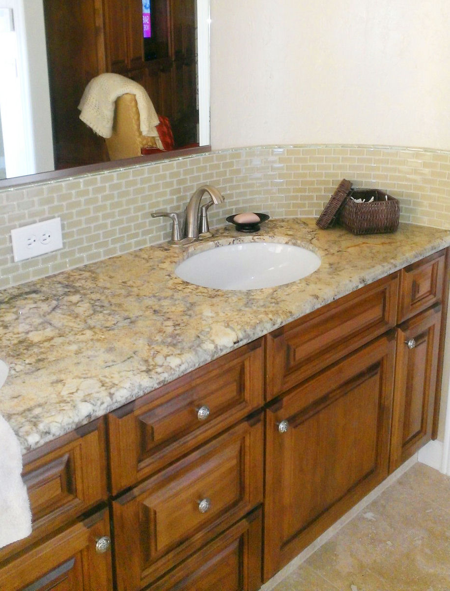 Khaki-Mini-Glass-Bathroom-Backsplash
