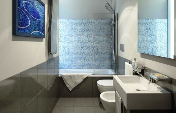 Minimalist-Bathroom-with-Blue-White-Tiles-590x379