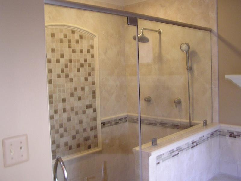 Remodeling Bathroom Tiled Showers Designs Pictures Glass