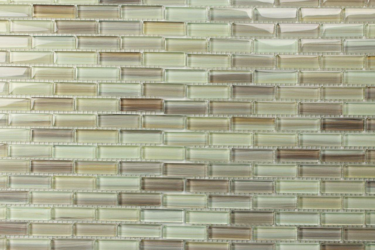 ... Artistic Bathroom Glass Tiles Designs On Kitchen Bathroom  ...