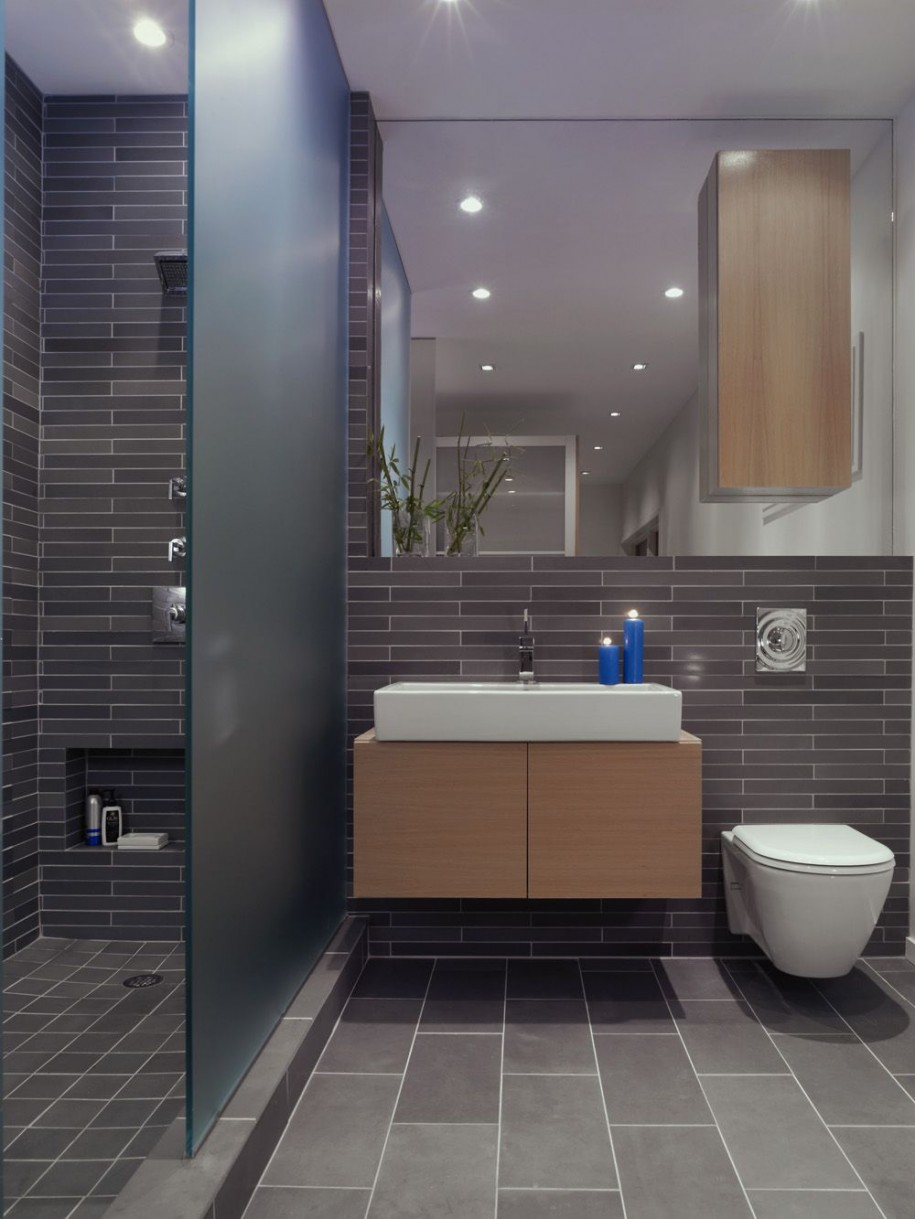 bathroom ideas grey tiles  visi build d, Home decor