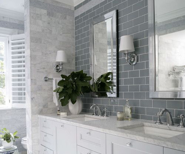 30 pictures of bachsplash bathroom subway tile