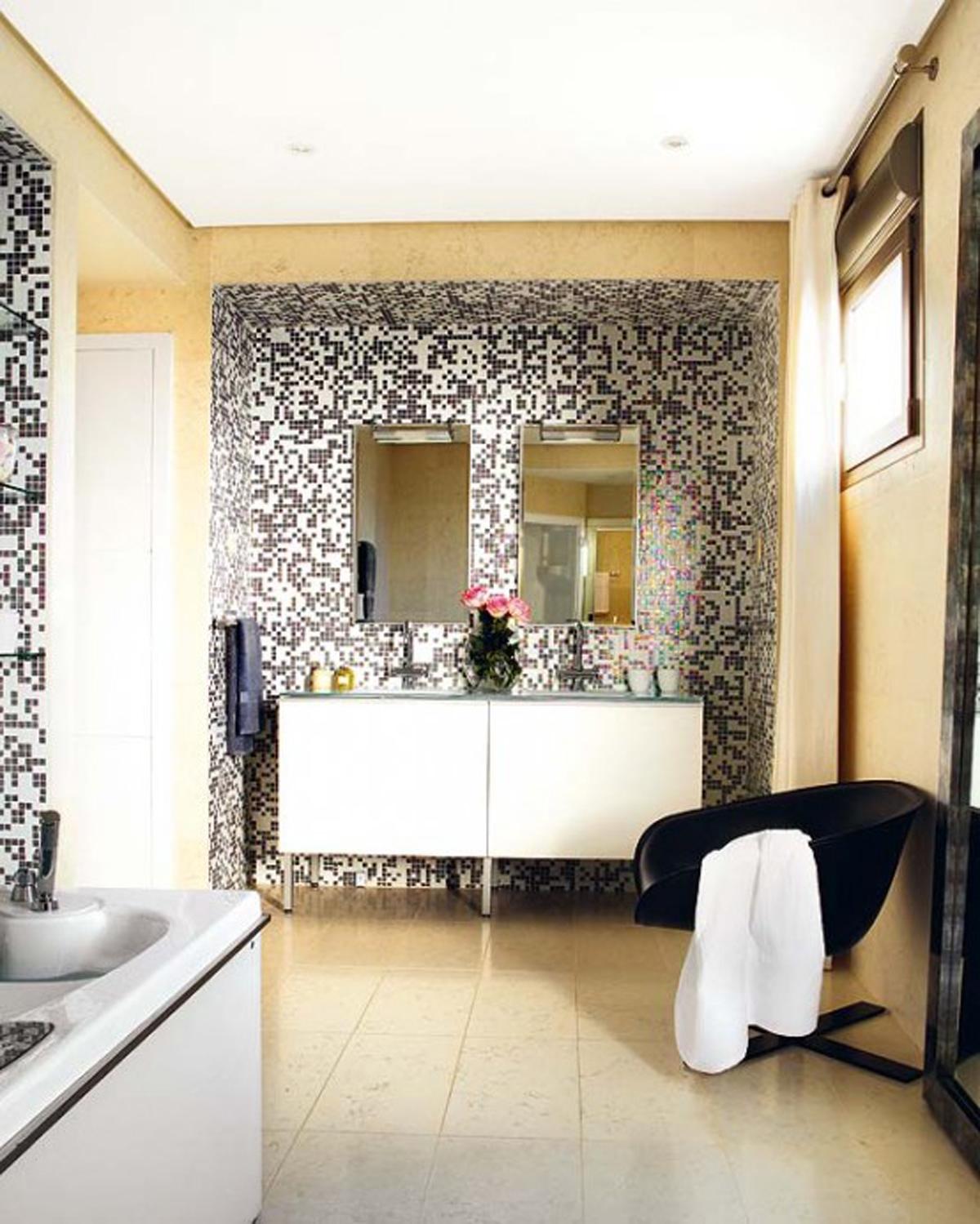 25 Wonderful Large Glass Bathroom Tiles 2019