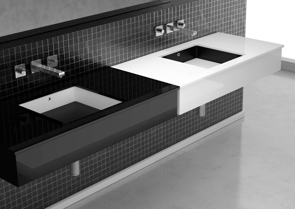 bathroom-interior-furniture-appliances-remarkable-modern-contemporary-white-and-black-vanity-top-integrated-with-squared-sink-attached-on-subway-black-glass-mosaic-wall-panel-fabulous-bathroom-e