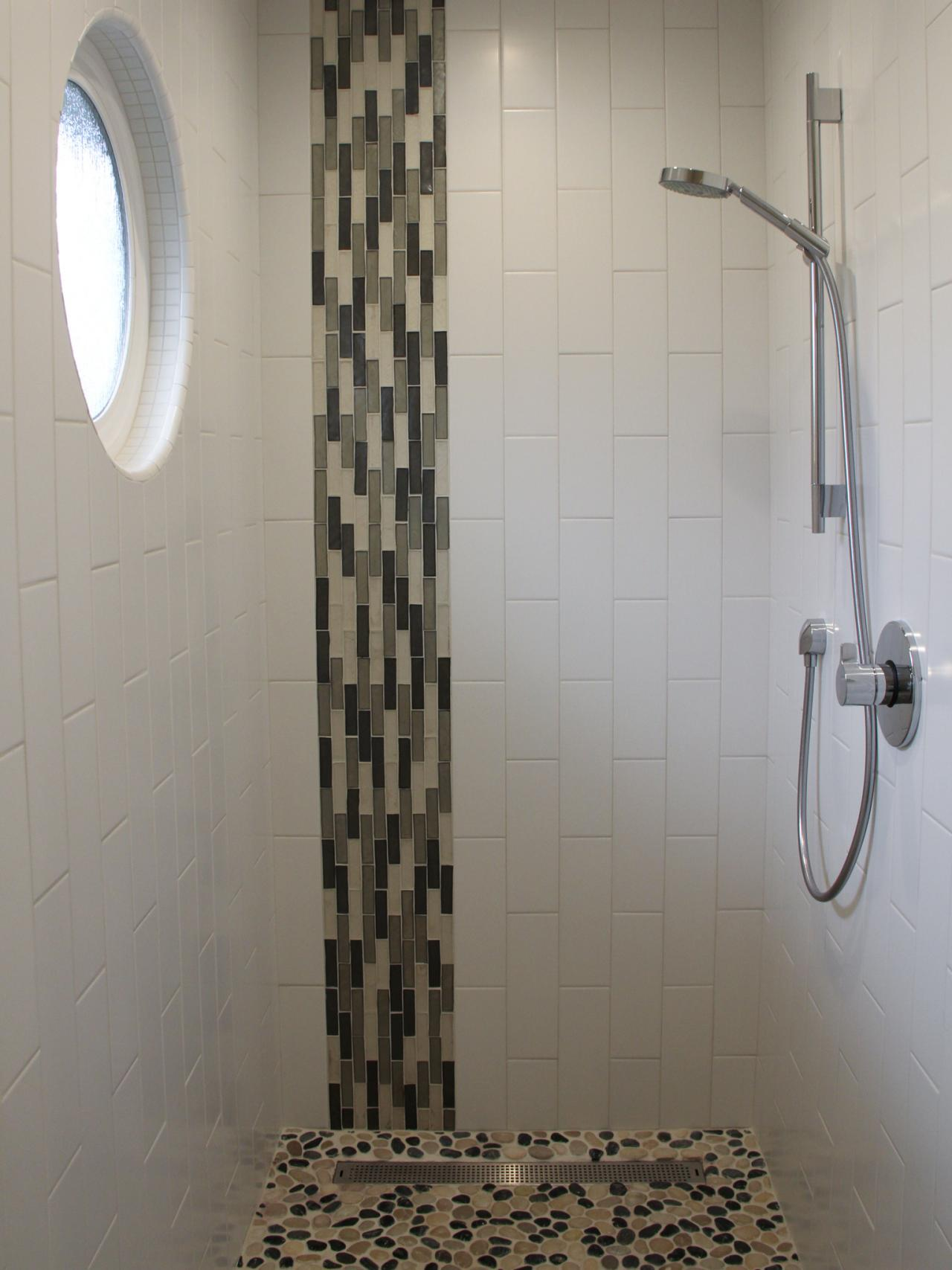 plus black and gray glass mosaic accent shower designs with glass tile
