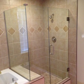 bathroom-tiles-sweet-clear-glass-shower-room-with-frameless-single-door-and-cream-porcelain-wall-tiled-shower-and-white-tub-as-decorate-guest-bathroom-design-relieving-tiled-shower-for-modern-ba