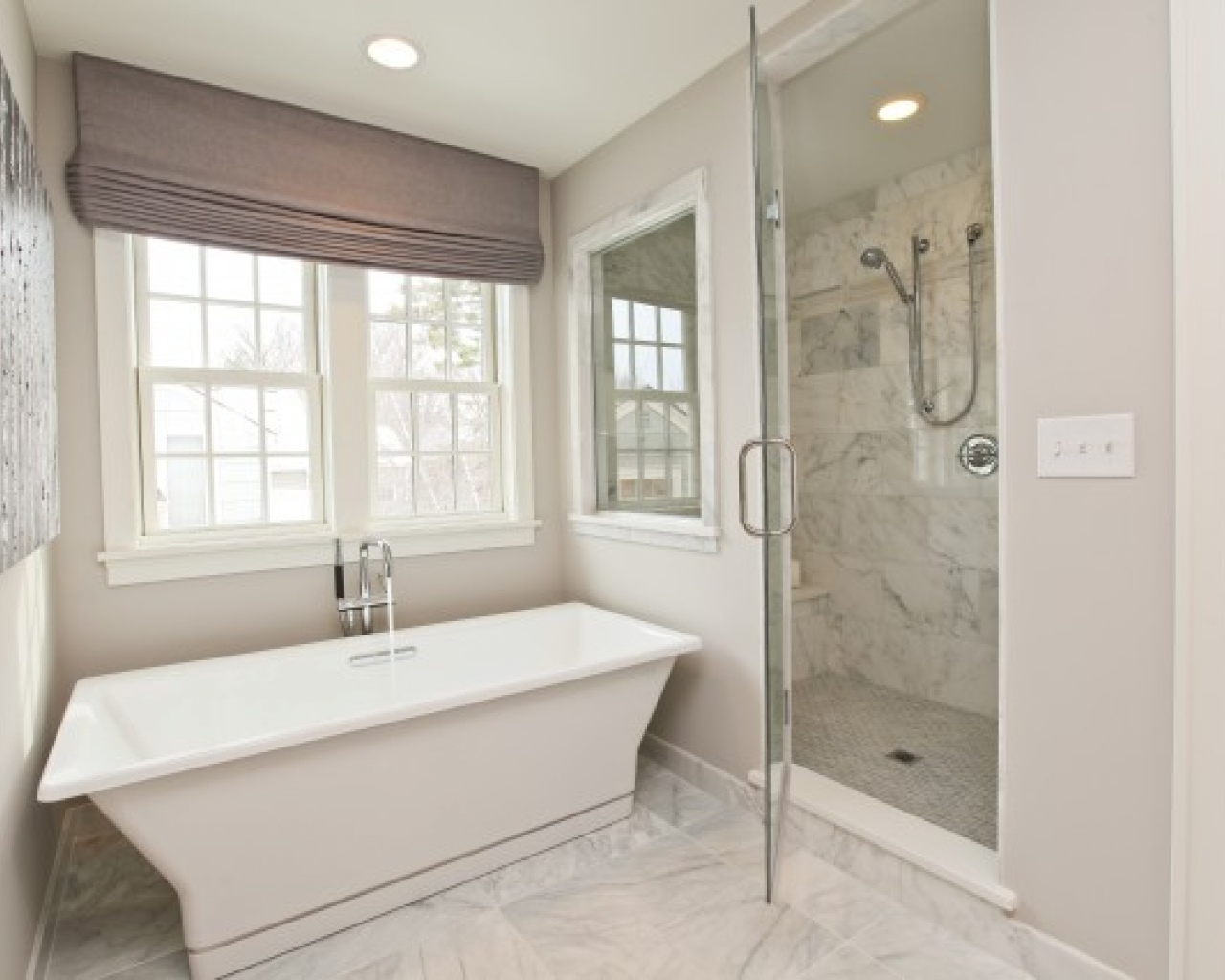 White Bathroom Floor Tile Ideas