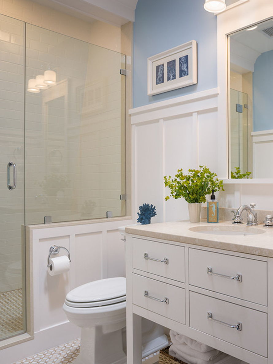 Bathroom Chair Rail Ideas Part - 24: 30 Ideas Of A Bathroom With Subway Tile And Chair Rail