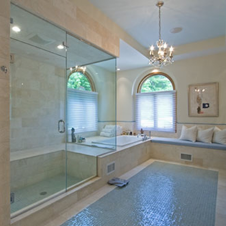 30 great ideas of glass tile for bath Glass bathroom design ideas