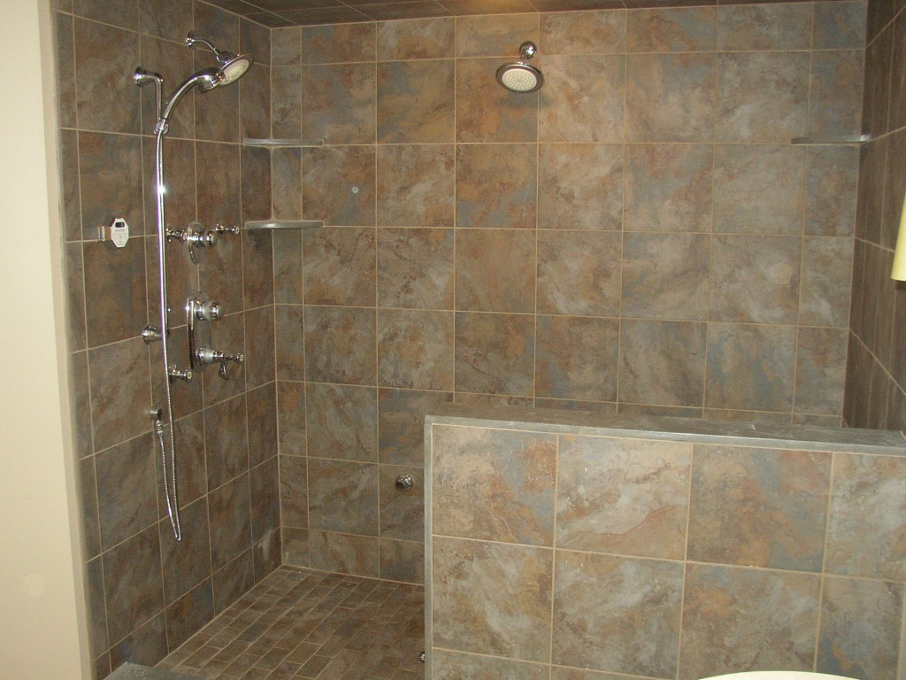 30 pictures of porcelain tile in a shower for Bathroom ideas no tiles