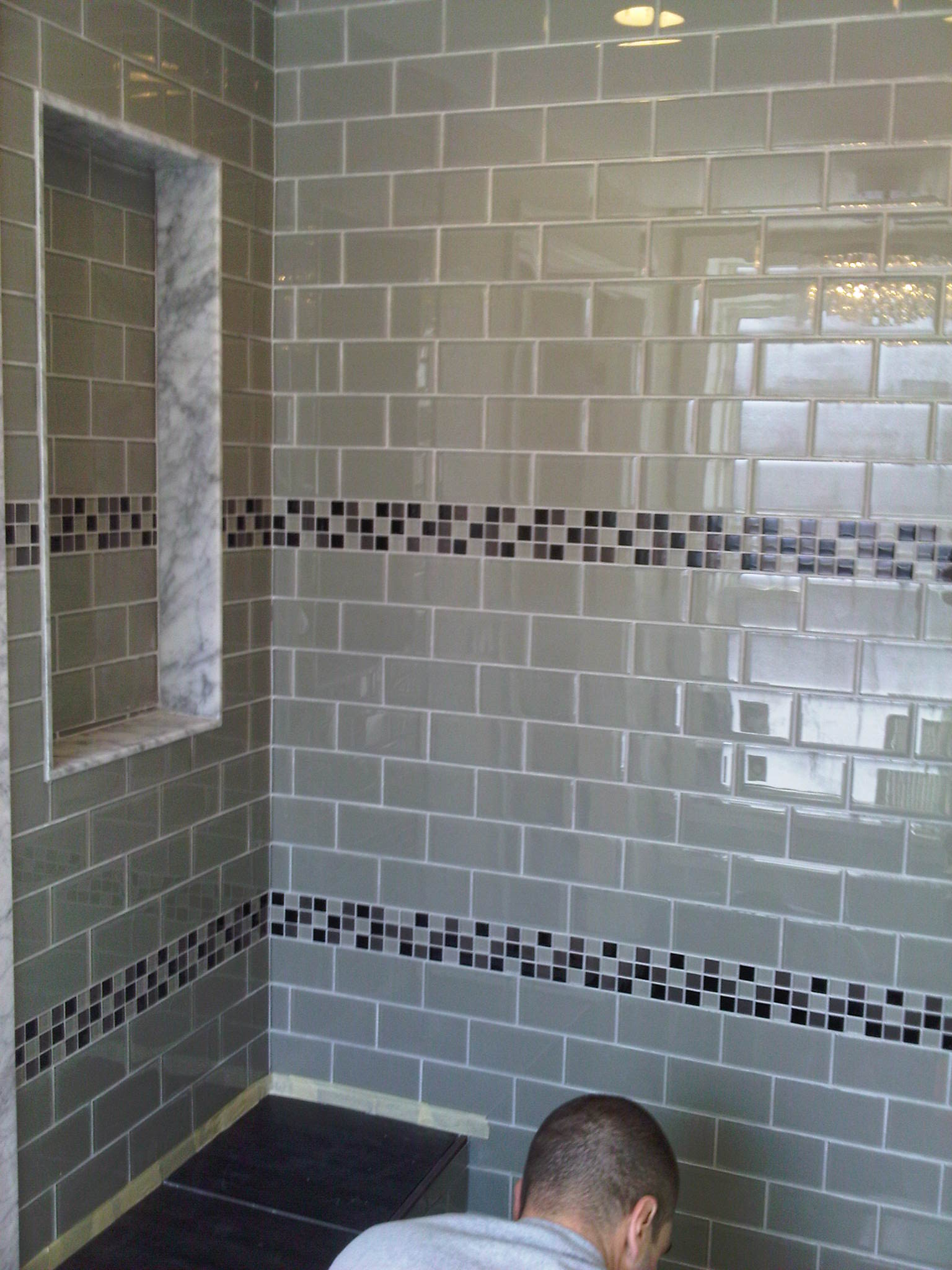 Glass tiles for bathroom