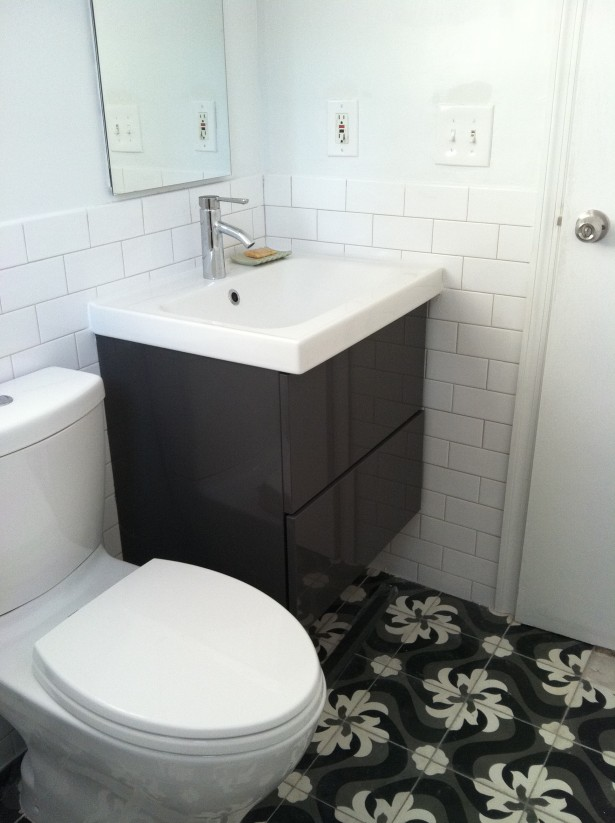 furniture-bathroom-magnificent-wall-mount-corner-ikea-bathroom-vanity-dark-brown-polished-with-single-white-porcelain-sink-attach-white-subway-ceramic-tile-backsplash-in-white-bathroom-decors-ch