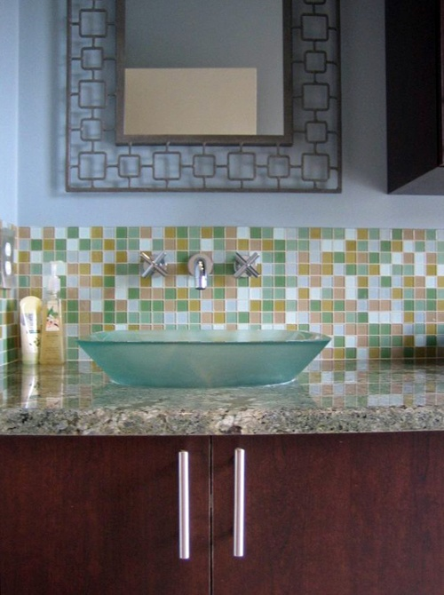 Nice Pictures Of Bathroom Glass Tile Accent Ideas - Glass accent tiles for bathroom