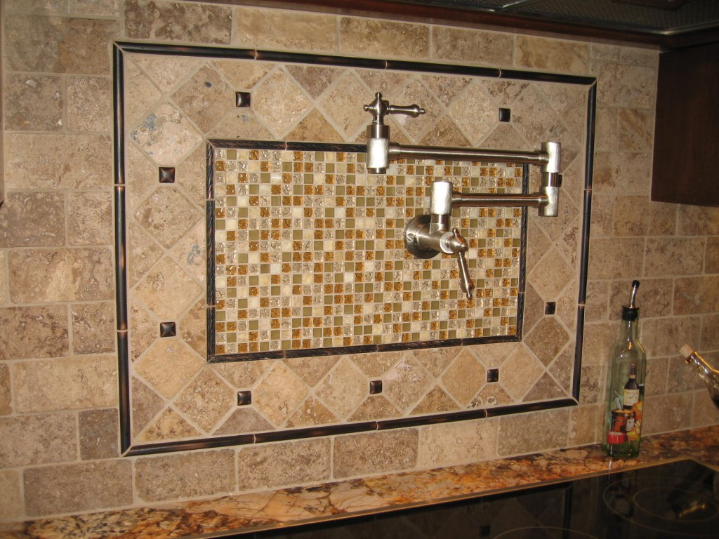23 nice ideas of glass tile trim bathroom for Kitchen cabinets lowes with decorative tiles for wall art