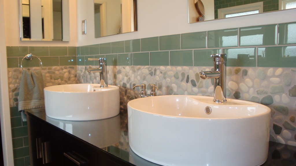 Bathroom back splash
