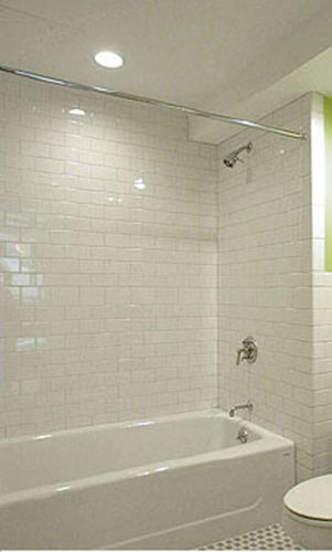 Beautiful Bathroom Glass Tile Tub Ideas Best Image Home