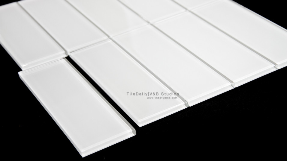 White Bar Glass Tile