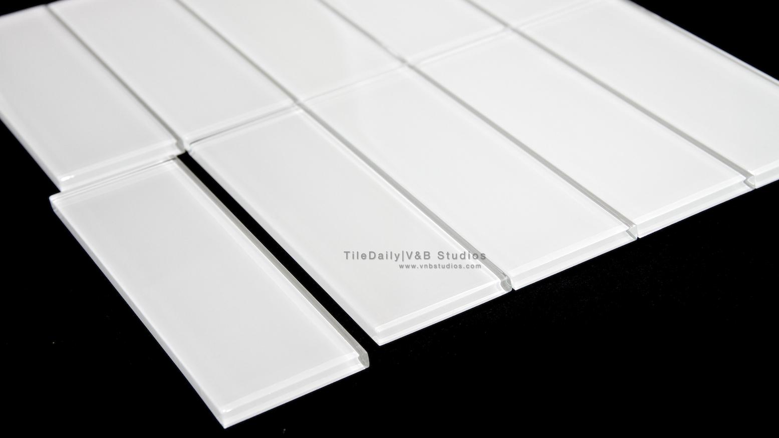 White Bar Glass Tile