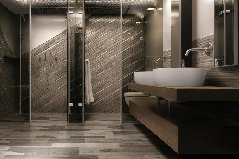 30 pictures of porcelain wood tile in a bathroom - Chambre avec douche italienne ...