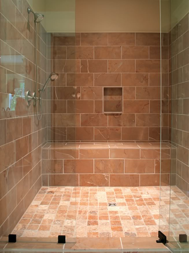 Glass Subway Tile Bathroom