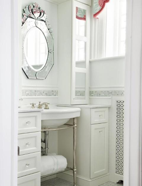Chair Rail Ideas For Bathroom white bathrooms Vannas_istabas8 2c75c895a98a354b49e55aafb92ed66d