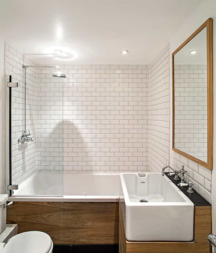 white-subway-tiles-Bathroom-Contemporary-with-belfast-sink-compact-bathroom