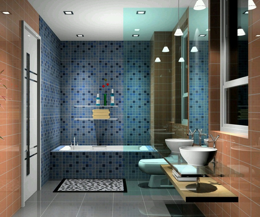 Bathroom Ideas Mosaic exellent bathroom ideas mosaic detail blue subway tile with built