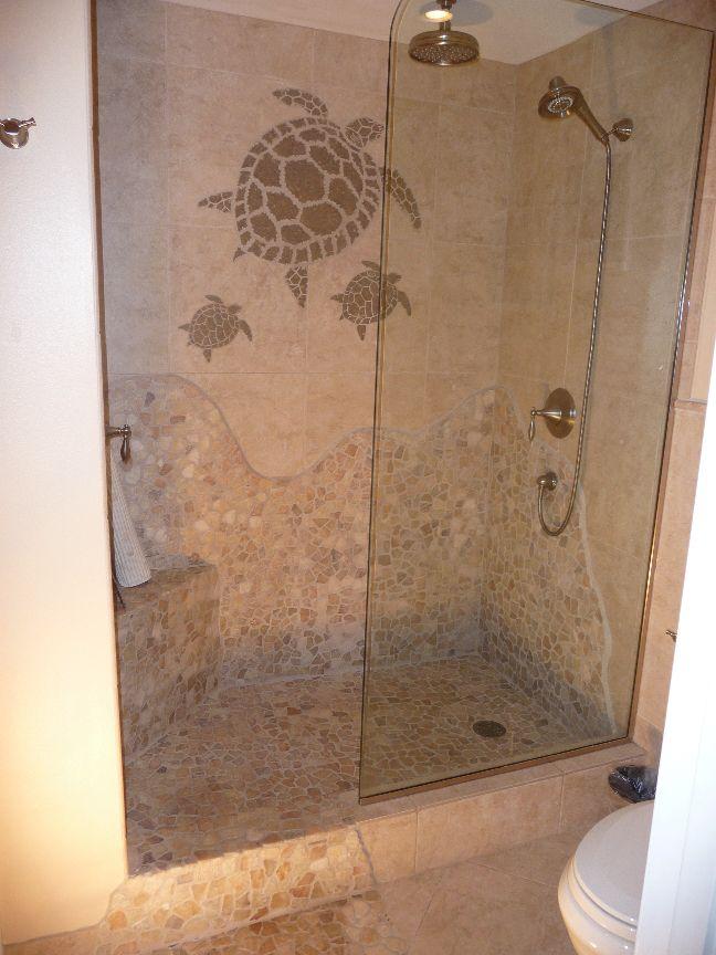 30 bathroom floor mosaic tile ideas for Bathroom tile shower design ideas