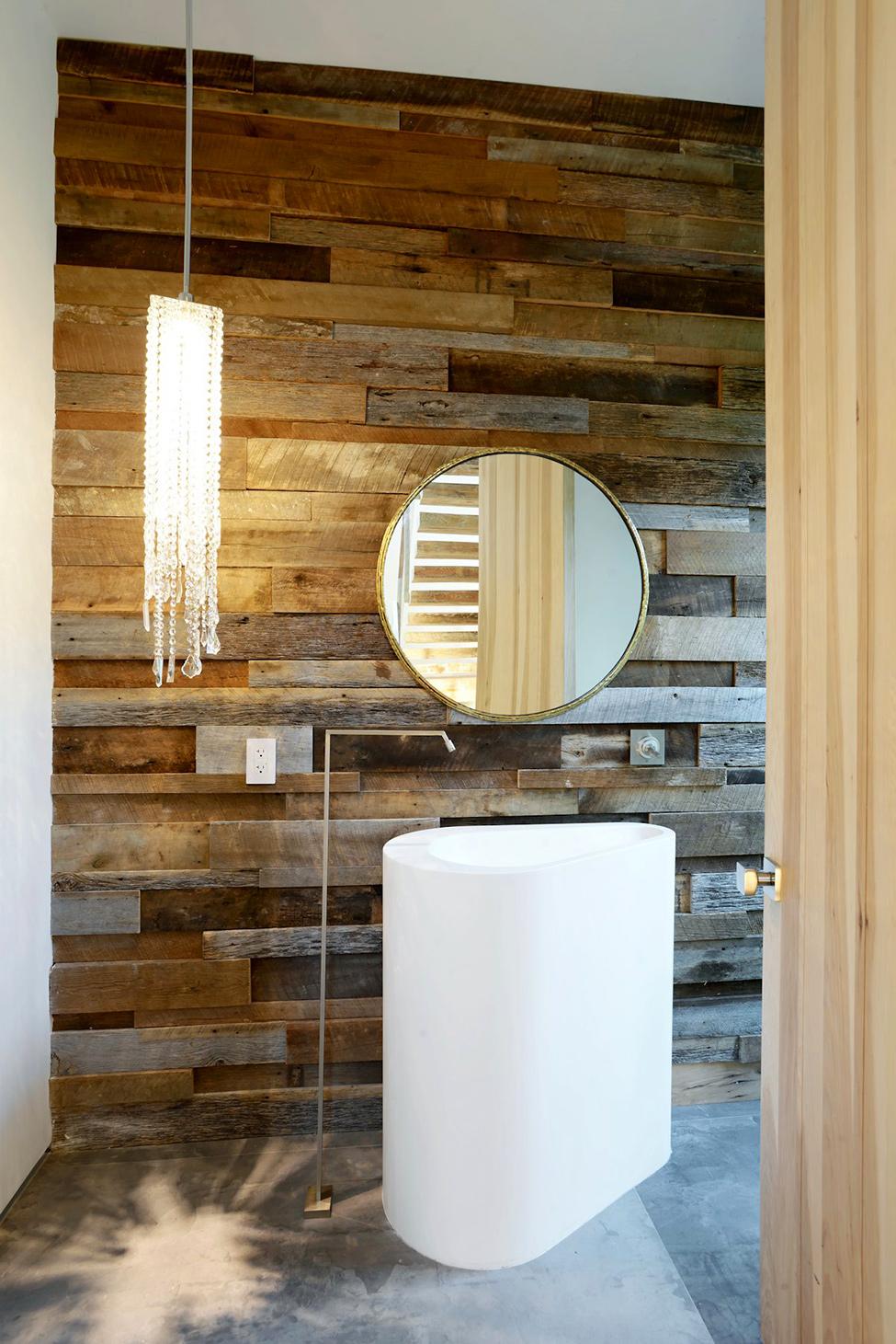 Wood Feature Wall Bathroom Wood Walls In Bathroom Dactus