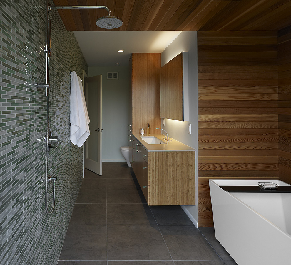 26 stunning ideas and pictures of hardwood tile in bathroom