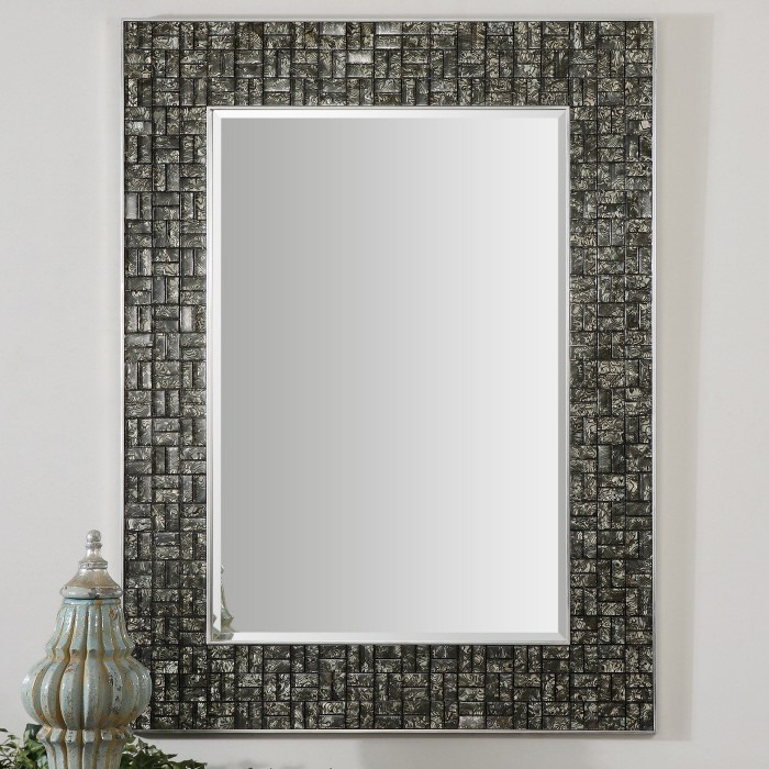 Lastest  Blue Mosaic Mirror  Classic Collection Beachstylebathroommirrors