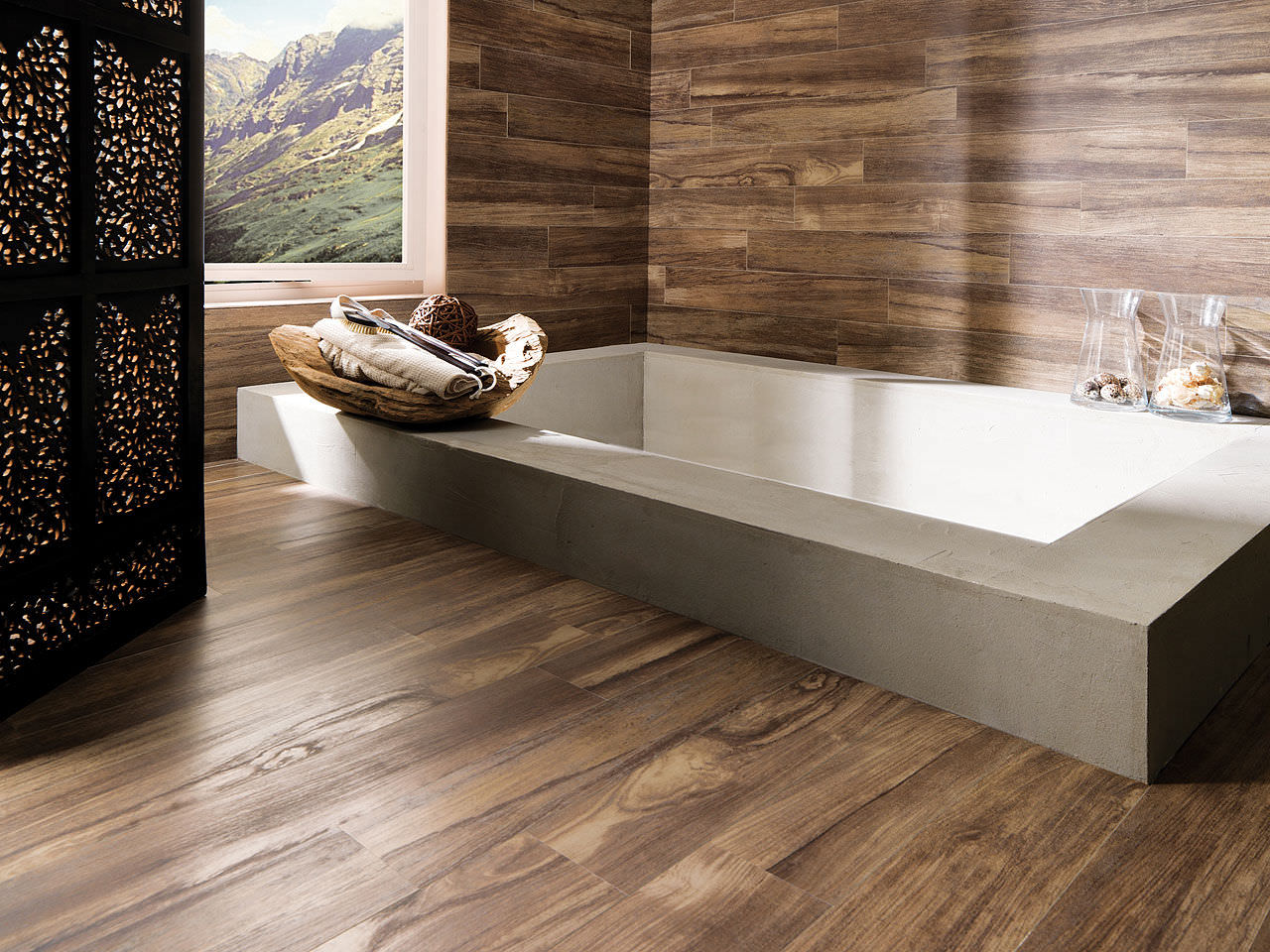 Wood effect flooring for bathrooms - 25 Pictures And Ideas Of Wood Effect Bathroom Floor Tile