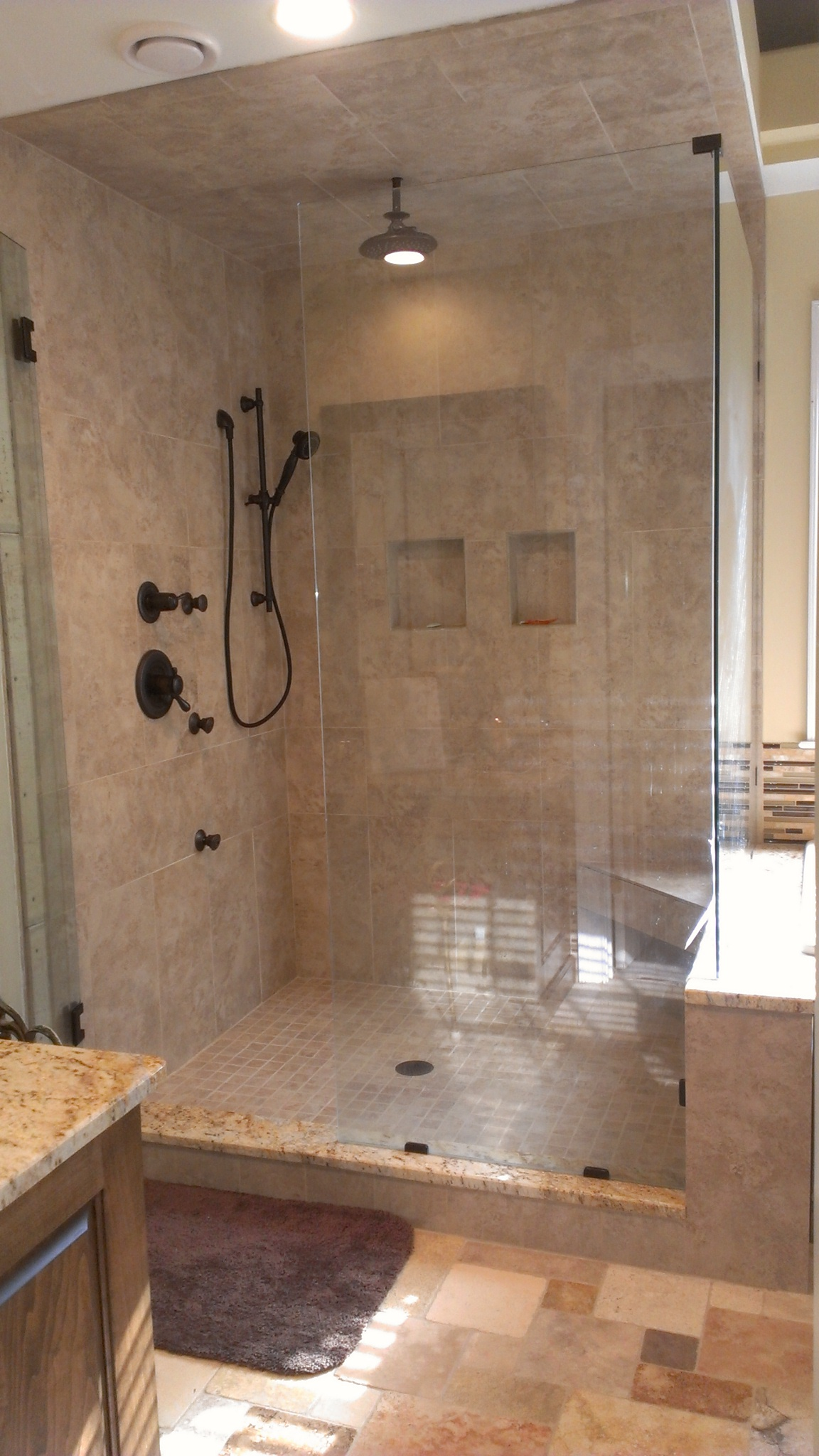 natural bathroom tiles can you use porcelain tile in a shower tile design ideas 13789