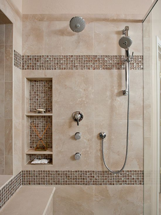Beautiful Shower Tile Ideas Glass Cover Shower Metalic Shower