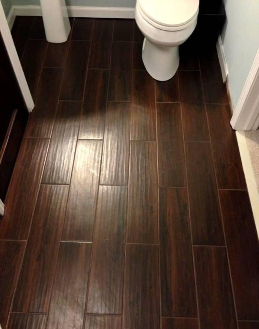 wood floor bathroom nice look | a1houston