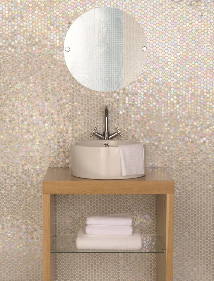 31 Ideas Of Using Round Mosaic Bathroom Tiles 2019