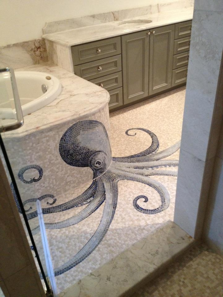 Shower Floor Tiles Which Why And How: 30 Bathroom Floor Mosaic Tile Ideas