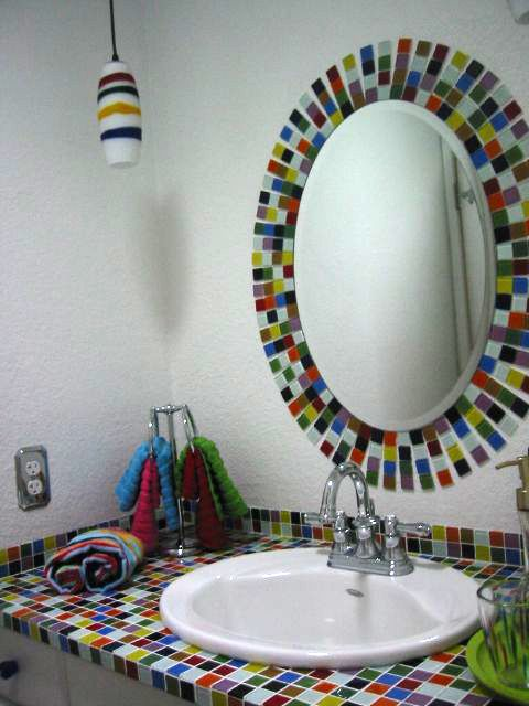 mosaic tile bathroom mirror 31 ideas of using mosaic tile around bathroom mirror 19665