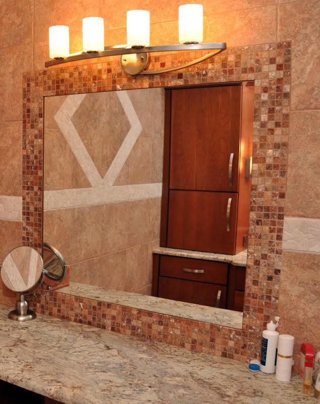 framed mirror bathroom 31 ideas of using mosaic tile around bathroom mirror 12898