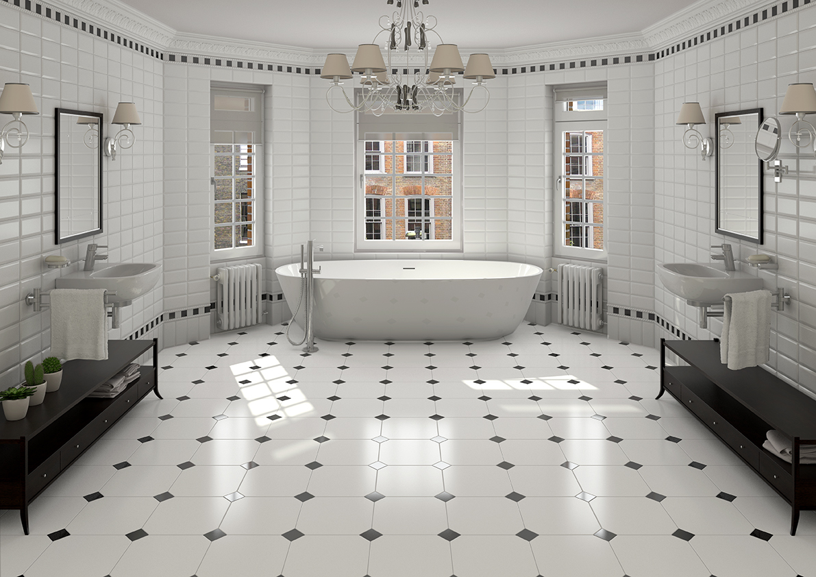 Charmant Alaska Octagonal Bathroom Floor Tiles And Taco Negro60635 ...
