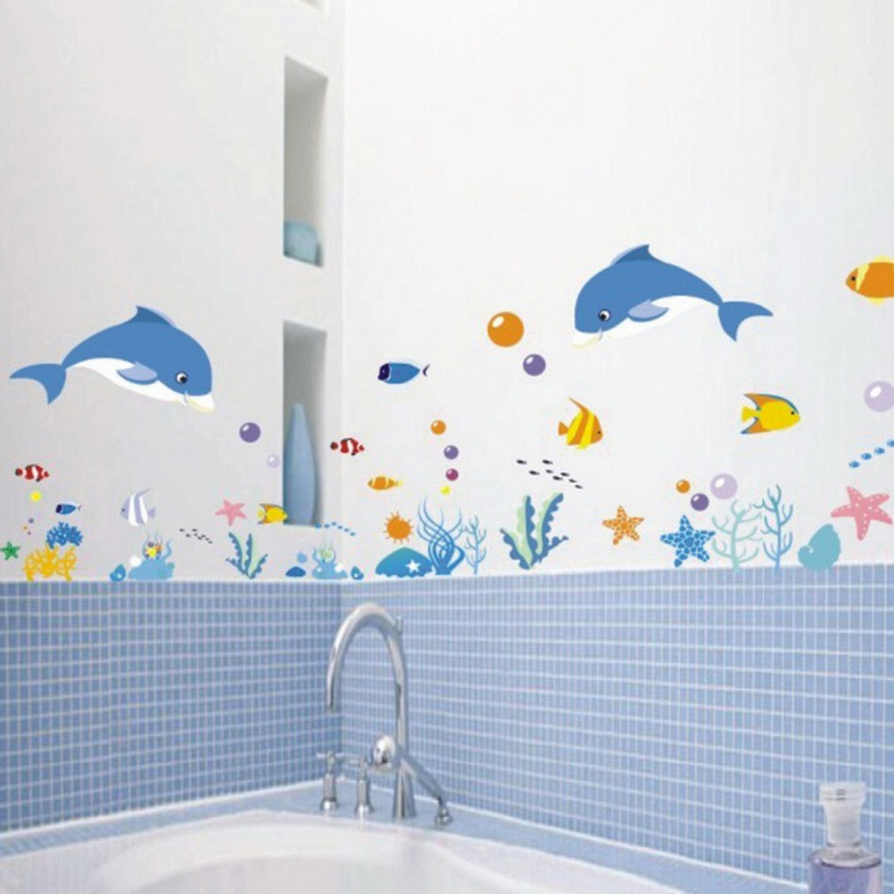 Bathroom-Shower-DIY-Sea-Underwater-World-Wall-Stickers-Vinyl-Baby-Kids-Wallpaper-House-Decorative-Decals-Art