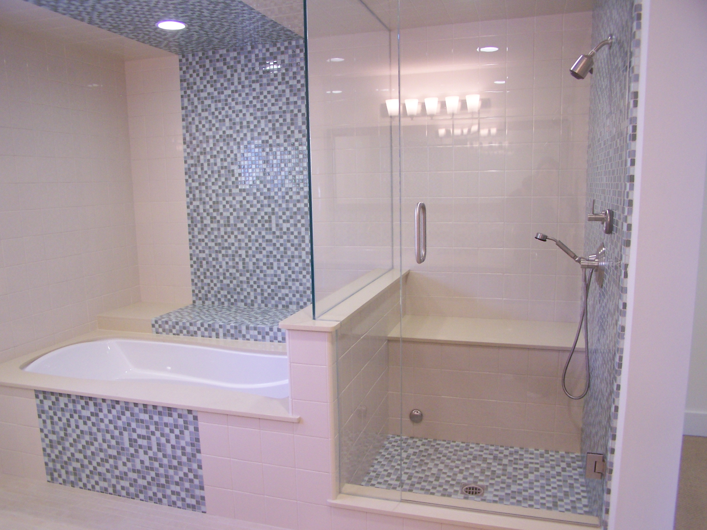 Bathroom designs pictures with tiles - Cute Pink Bathroom Wall Tiles Design Great Home