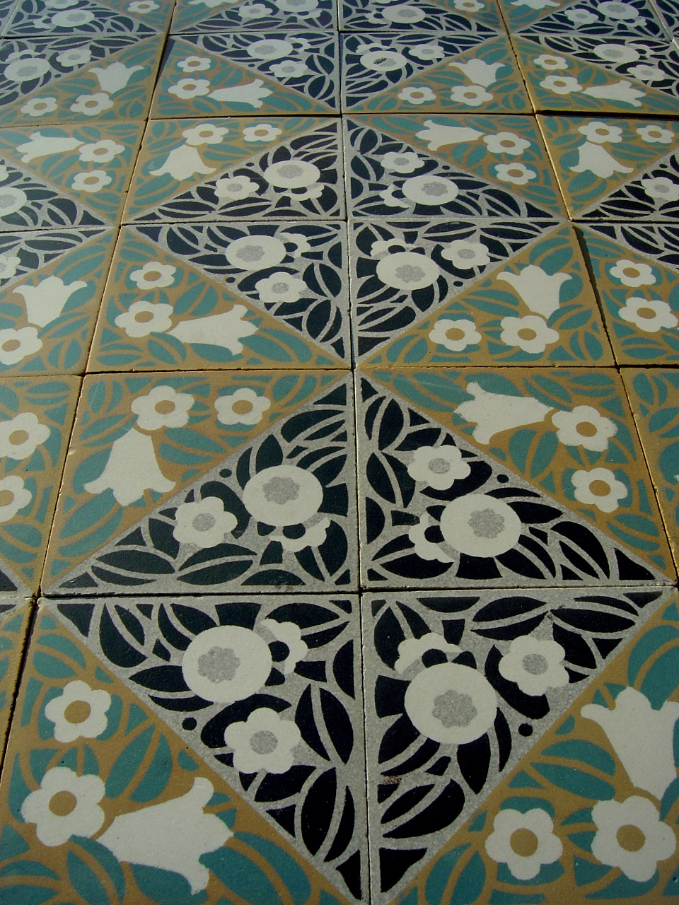 how to clean 1930s floor tiles