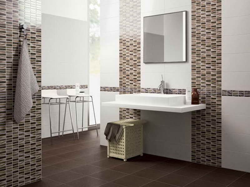 ... Glass Mosaic Tile Patterns For Bathroom Walls With  ...