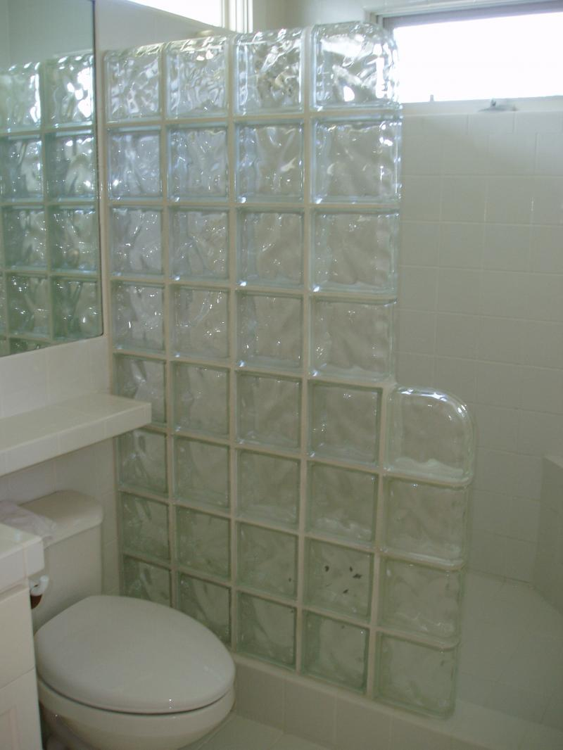 ... Glass Tile Shower ...
