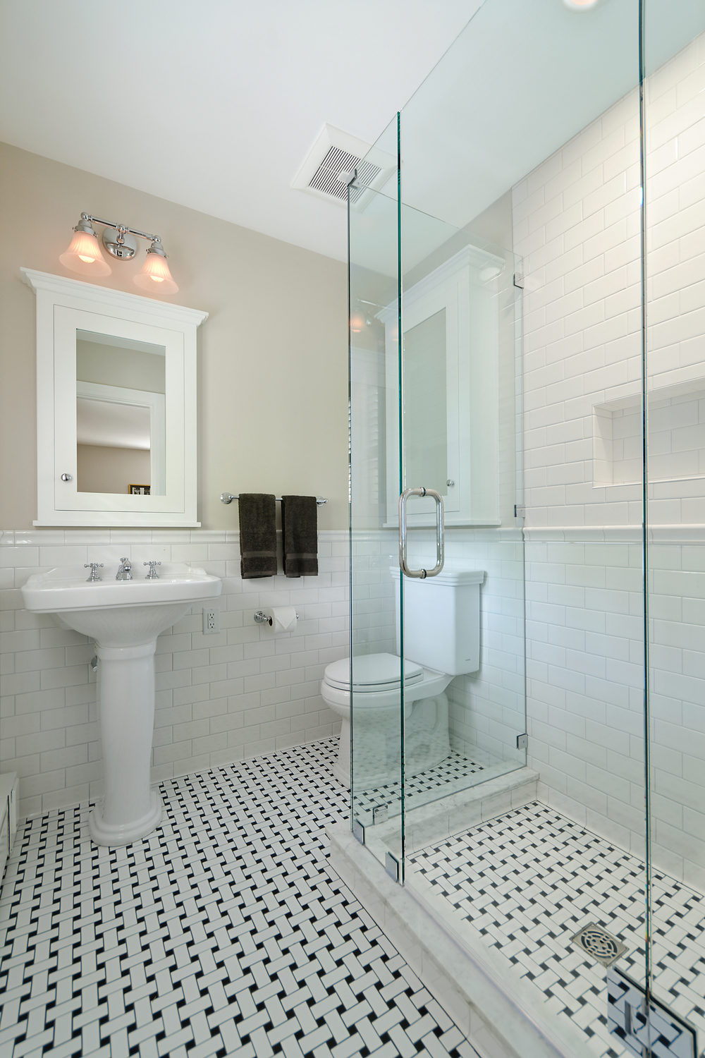 Great pictures and ideas basketweave bathroom floor tile haines bath remodel dailygadgetfo Choice Image