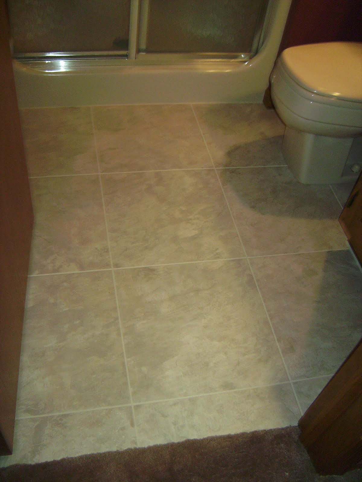 34 cool ideas and pictures of bathroom tile vinyl stickers for Vinyl floor tiles in bathroom