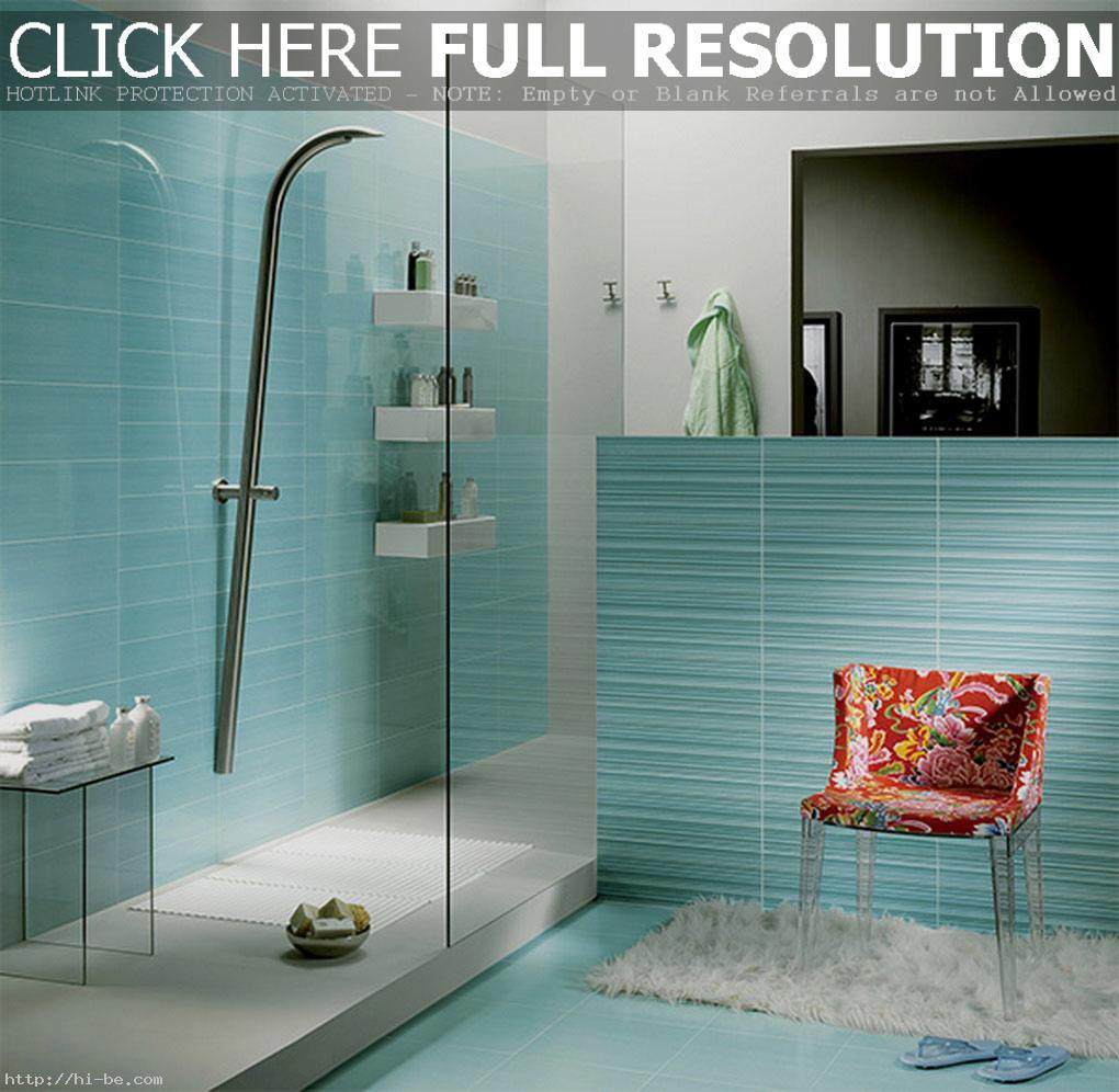 Interior-Bathroom-Decoration-Ideas-Cool-Light-Blue-Glass-Tile-For-Bathroom-Wall-In-Glass-Stall-Shower-Design-Ideas-Mind-Blowing-Bathroom-Design-With-Glass-Tile-For-Bathro